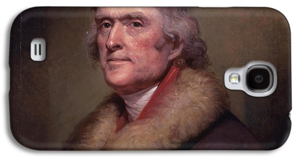 Usa Paintings Galaxy S4 Cases - President Thomas Jefferson Galaxy S4 Case by War Is Hell Store