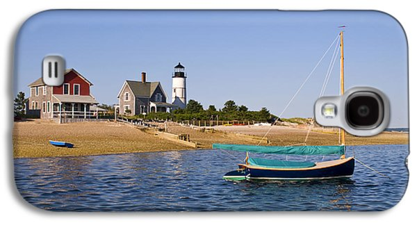 Rowboat Galaxy S4 Cases - Sandy Neck Lighthouse Galaxy S4 Case by Charles Harden