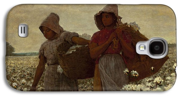 African-american Galaxy S4 Cases - The Cotton Pickers Galaxy S4 Case by Winslow Homer