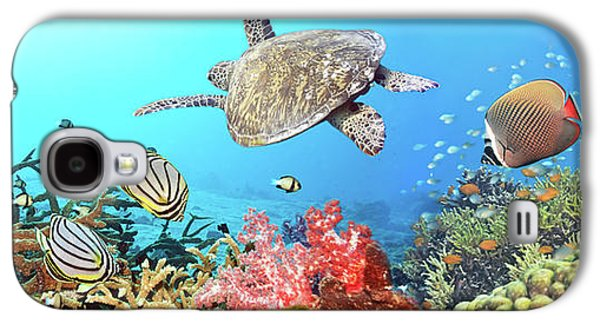 Ocean Panorama Galaxy S4 Cases - Underwater panorama Galaxy S4 Case by MotHaiBaPhoto Prints