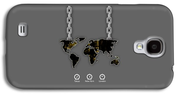 Atlas Galaxy S4 Cases - World Map Collection Galaxy S4 Case by Marvin Blaine