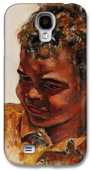 African-american Galaxy S4 Cases - 4-Year-Old Talented Drummer Galaxy S4 Case by Xueling Zou