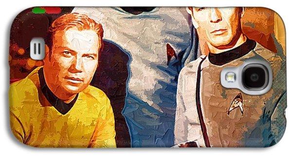Enterprise Galaxy S4 Cases - Art Star Trek Galaxy S4 Case by Victor Gladkiy