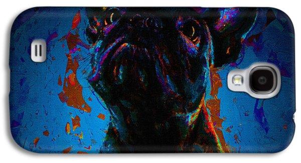 Dogs Digital Art Galaxy S4 Cases - Dog Portrait Art Print Galaxy S4 Case by Victor Gladkiy