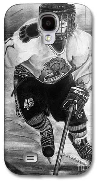 #48 Andrew Savona Squirt Aa Hatfield Ice Dogs Galaxy S4 Case by Gary Reising
