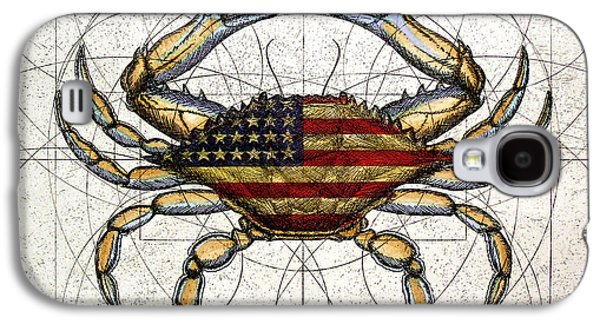 4th July Galaxy S4 Cases - 4th of July Crab Galaxy S4 Case by Charles Harden