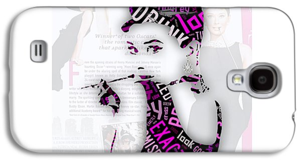 Audrey Hepburn Breakfast At Tiffany's Quotes Galaxy S4 Case by Marvin Blaine