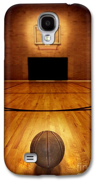 Basket Ball Game Galaxy S4 Cases - Basketball and Basketball Court Galaxy S4 Case by Lane Erickson
