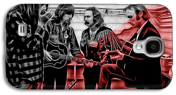 Young Galaxy S4 Cases - Crosby Stills Nash and Young Galaxy S4 Case by Marvin Blaine