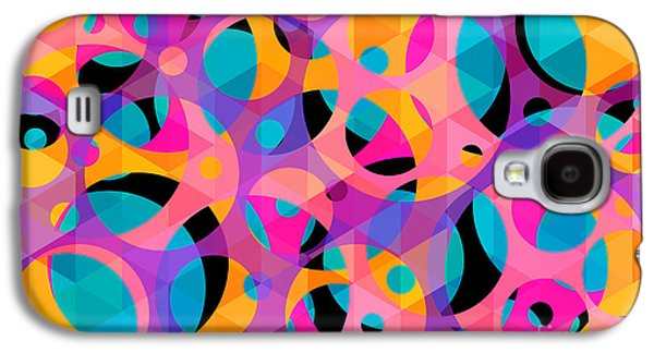 Surreal Geometric Galaxy S4 Cases - Geometric  Galaxy S4 Case by Mark Ashkenazi