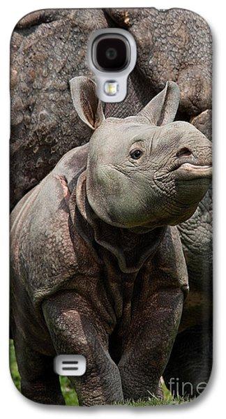 Indian Rhinoceros Rhinoceros Unicornis Galaxy S4 Case by Gerard Lacz