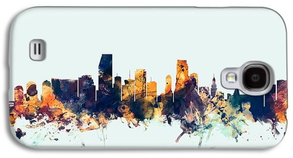 Miami Florida Skyline Galaxy S4 Case by Michael Tompsett