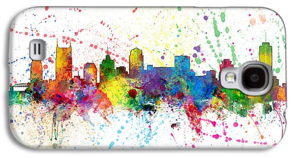 Nashville Tennessee Skyline Galaxy S4 Case by Michael Tompsett