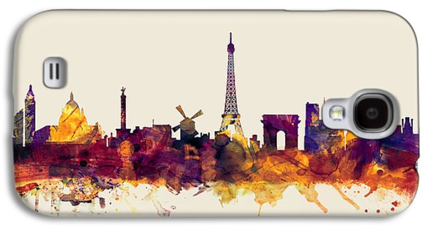 Towers Digital Galaxy S4 Cases - Paris France Skyline Galaxy S4 Case by Michael Tompsett