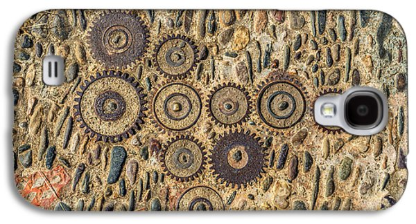 Mechanism Galaxy S4 Cases - Pavement texture with gears and bricks in Montjuic Barcelona Spain Galaxy S4 Case by Eduardo Huelin