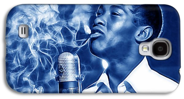 Music Mixed Media Galaxy S4 Cases - Sam Cooke Collection Galaxy S4 Case by Marvin Blaine