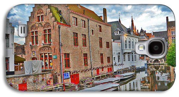 Clooney Galaxy S4 Cases - The Quiet Waters Of The Canals Of Bruges. Galaxy S4 Case by Andy Za
