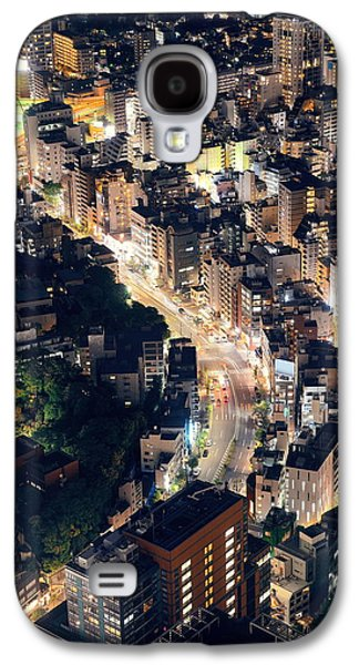 Landmarks Photographs Galaxy S4 Cases - Tokyo night Galaxy S4 Case by Songquan Deng