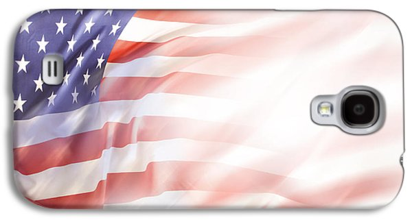 Abstract Movement Galaxy S4 Cases - USA flag Galaxy S4 Case by Les Cunliffe