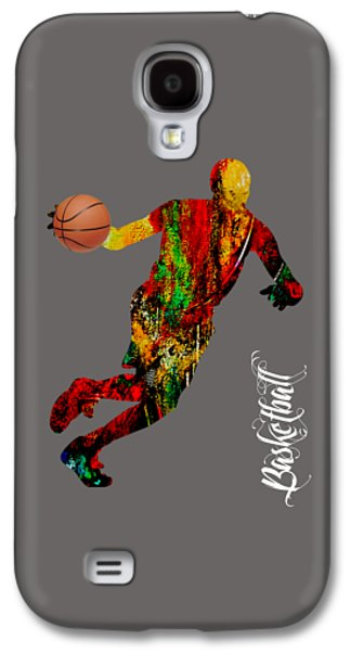 Basketball Collection Galaxy S4 Case by Marvin Blaine