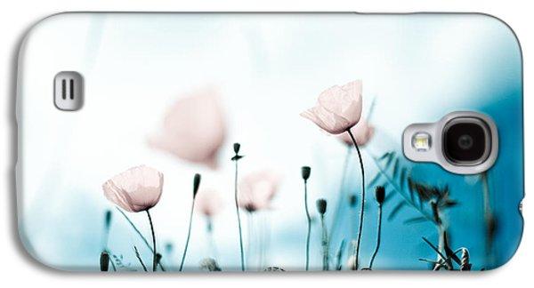 Botanical Galaxy S4 Cases - Corn Poppy Flowers Galaxy S4 Case by Nailia Schwarz