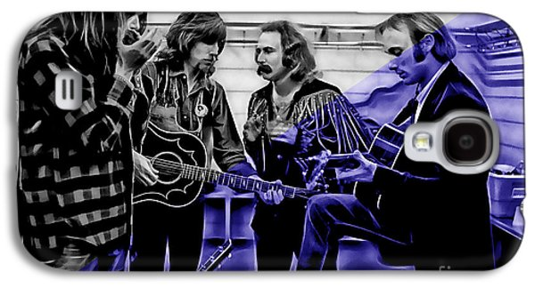 Neil Young Galaxy S4 Cases - Crosby Stills Nash and Young Galaxy S4 Case by Marvin Blaine