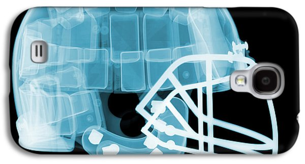 Sports Photographs Galaxy S4 Cases - Football Helmet X-ray Galaxy S4 Case by Ted Kinsman