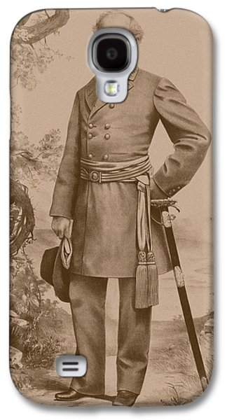 The General Lee Drawings Galaxy S4 Cases - General Robert E. Lee Galaxy S4 Case by War Is Hell Store