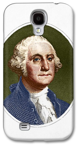Colonial Man Photographs Galaxy S4 Cases - George Washington, 1st American Galaxy S4 Case by Photo Researchers