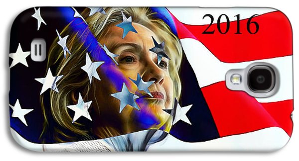 Hillary Clinton 2016 Collection Galaxy S4 Case by Marvin Blaine