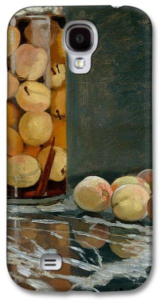 Jar Of Peaches Galaxy S4 Case by Claude Monet