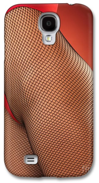 Person Galaxy S4 Cases - Sexy Young Woman in High Cut Swimsuit Galaxy S4 Case by Oleksiy Maksymenko