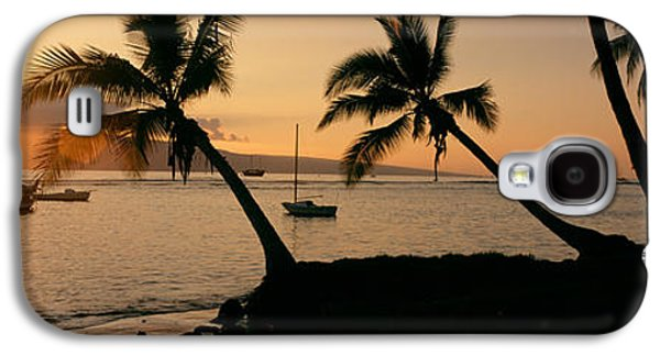 Reflection Of Sun In Clouds Galaxy S4 Cases - Silhouette Of Palm Trees At Dusk Galaxy S4 Case by Panoramic Images