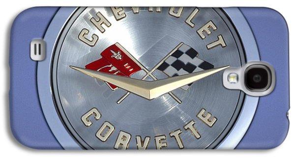 60 Chevy Corvette Emblem  Galaxy S4 Case by Mike McGlothlen