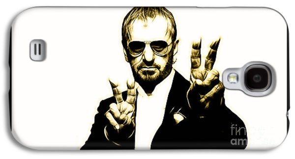Beatles Galaxy S4 Cases - Ringo Starr Collection Galaxy S4 Case by Marvin Blaine