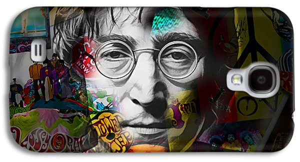 Beatles Galaxy S4 Cases - John Lennon Collection Galaxy S4 Case by Marvin Blaine