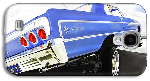 Galaxy S4 Cases - 64 Impala Lowrider Galaxy S4 Case by Colin Tresadern