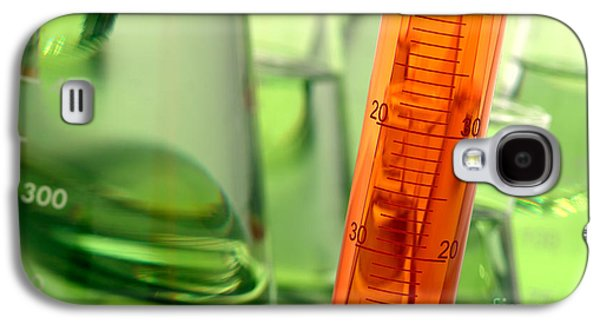 Green Galaxy S4 Cases - Laboratory Equipment in Science Research Lab Galaxy S4 Case by Olivier Le Queinec