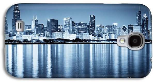 Willis Tower Galaxy S4 Cases - Chicago Skyline at Night Galaxy S4 Case by Paul Velgos