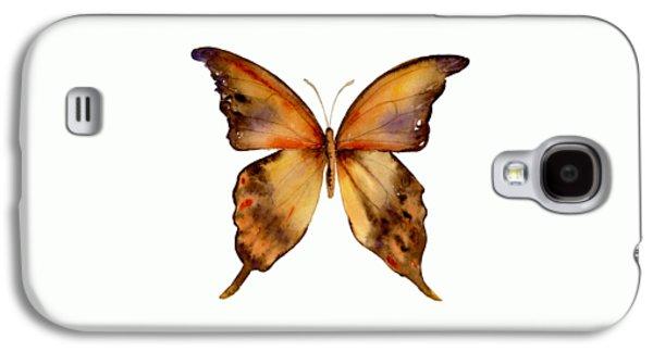 7 Yellow Gorgon Butterfly Galaxy S4 Case by Amy Kirkpatrick