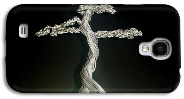 Etc. Sculptures Galaxy S4 Cases - #72 Mig wire Tree sculpture in Marianne Thomasson pot Galaxy S4 Case by Ricks  Tree Art