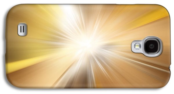 Atomic Galaxy S4 Cases - Bright background  Galaxy S4 Case by Les Cunliffe