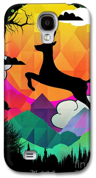 Spiritualism Galaxy S4 Cases - Deer Galaxy S4 Case by Mark Ashkenazi