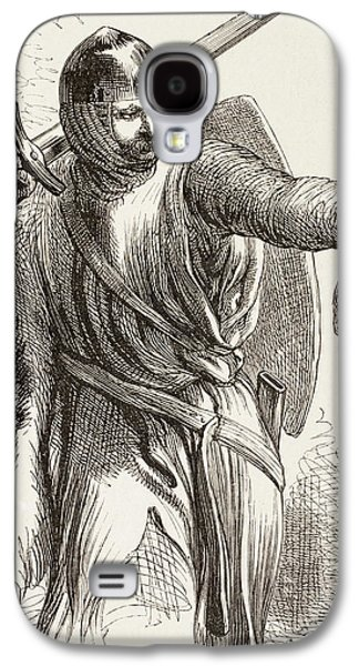 Austria Drawings Galaxy S4 Cases - Illustration By Sir John Gilbert For Galaxy S4 Case by Vintage Design Pics