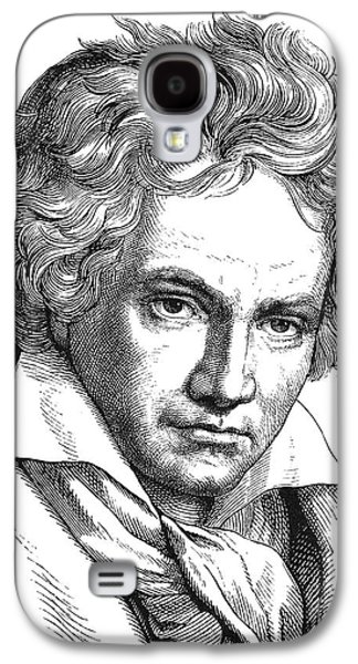 Pianist Photographs Galaxy S4 Cases - LUDWIG van BEETHOVEN Galaxy S4 Case by Granger