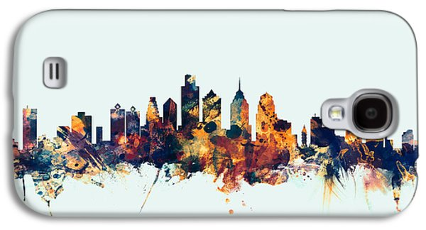 Philadelphia Pennsylvania Skyline Galaxy S4 Case by Michael Tompsett