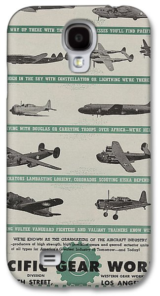 Green Drawings Galaxy S4 Cases - World War II Advertisement Galaxy S4 Case by American School