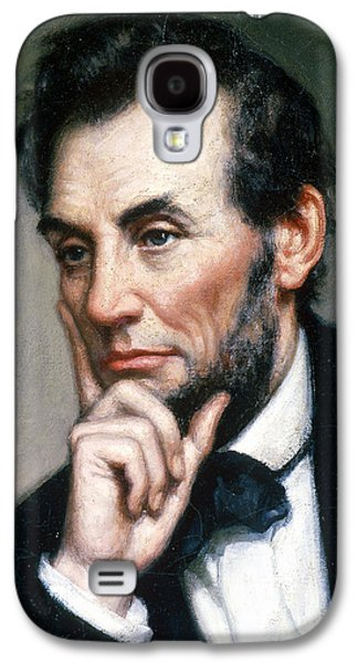 Proclamation Galaxy S4 Cases - Abraham Lincoln 16th American President Galaxy S4 Case by Photo Researchers