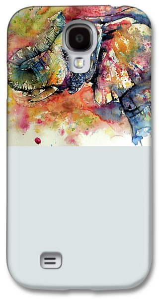 Colorful Elephant Galaxy S4 Case by Kovacs Anna Brigitta