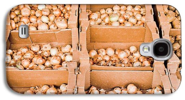 Local Food Galaxy S4 Cases - Onions Galaxy S4 Case by Tom Gowanlock